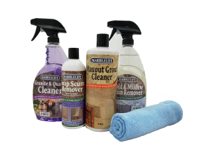 MARBLELIFE® Clean & Fresh Kitchen & Bathroom Care Kits – Granite – (GQC-41100, SSR-41200, MAX-41300, MMR-41190, MFT-55225)