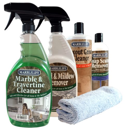 MARBLELIFE Clean & Fresh Kitchen & Bathroom Care Kits - Marble & Travertine