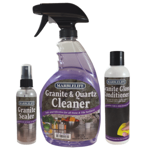 MARBLELIFE® Granite Countertop Clean & Seal Care Kit – Without Buffer – (GQC-41110, GSL-41140, GGC-41130)